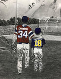 "FAMILY ""Field of Dreams"" PERSONALIZED Baseball Artwork"