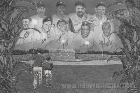 "FATHER/SON or COACH or FAMILY ""Field of Dreams"" PERSONALIZED Baseball Artwork"