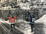 "TEAM PACKAGE for orders of `10 or more on same team ""The Dream Begins Here"" PERSONALIZED Hockey Artwork"
