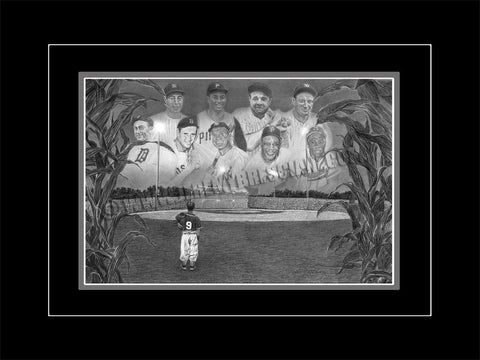 "The 1/1 ORIGINAL ""Field of Dreams"" ORIGINAL hand-drawn Pencil Art"