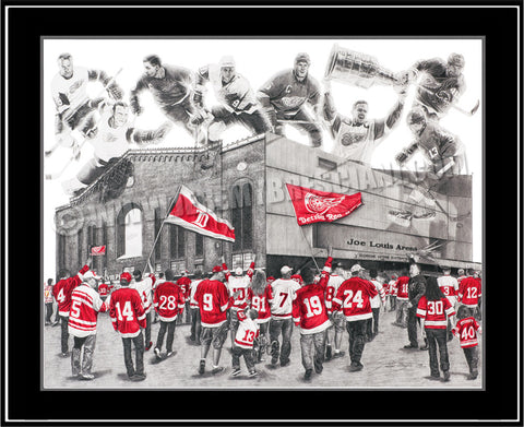 "The 1/1 ORIGINAL ""HOCKEYTOWN"" hand-drawn Pencil Art"