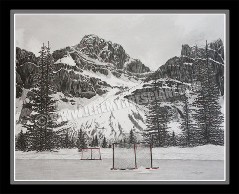 "The 1/1 ORIGINAL ""Hockey Mountain Memories"" hand-drawn Pencil Art"