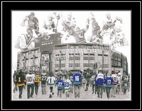 "The 1/1 ORIGINAL ""We Are All Canucks"" hand-drawn Pencil Art"