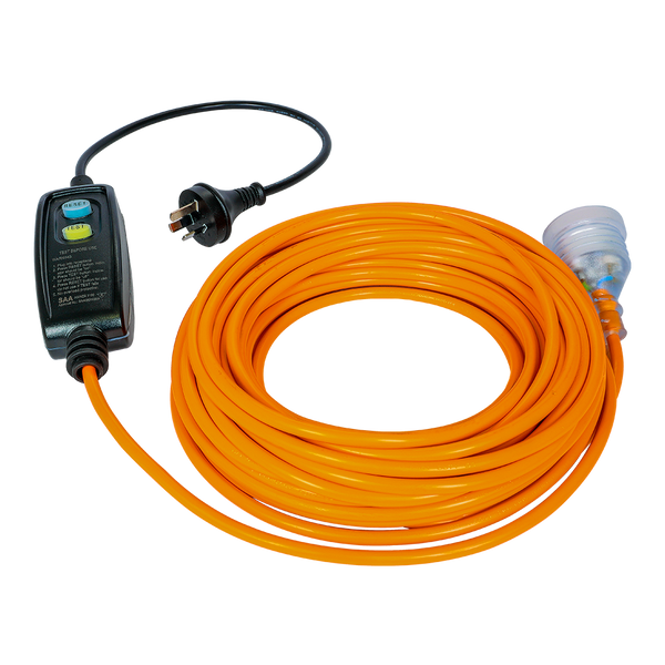Extension Lead - 18m - 3C - Plug Type I - Inline RCD