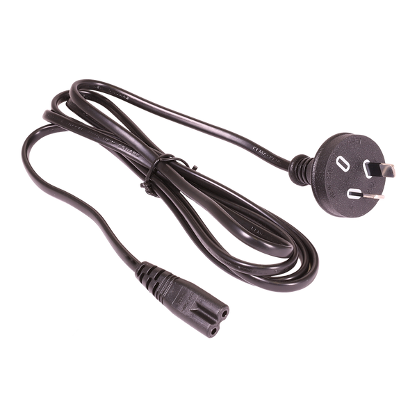 Power Cord - IEC C7 - 1.8m - 3C - Plug Type I