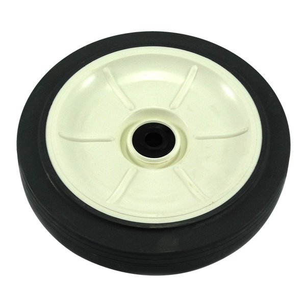 Wheel - White Plastic Inner - Rubber - 200mm