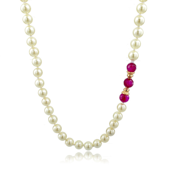 Pink Lady Pearl Necklace | VaVaVoo Jewelry
