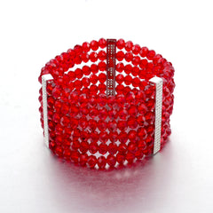 Ruby Red Crystal Deco Bracelet | VaVaVoo Jewelry
