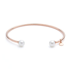 Rose Gold Pearl Cuff | VaVaVoo Jewelry