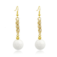 White Agate Drop Earrings | VaVaVoo Jewelry