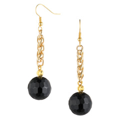 Black Agate Drop Earrings | VaVaVoo Jewelry