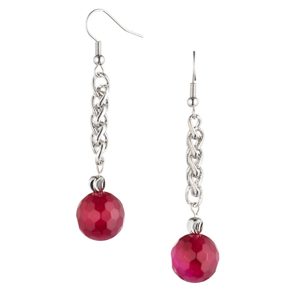 Raspberry Agate Earrings | VaVaVoo Jewelry