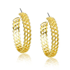 Woven Gold Hoop Earrings | VaVaVoo Jewelry