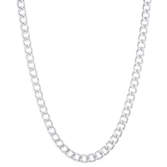 Hammered Silver Chain Necklace | VaVaVoo Jewelry