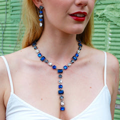 Stunning Blue Gemstone Statement Necklace