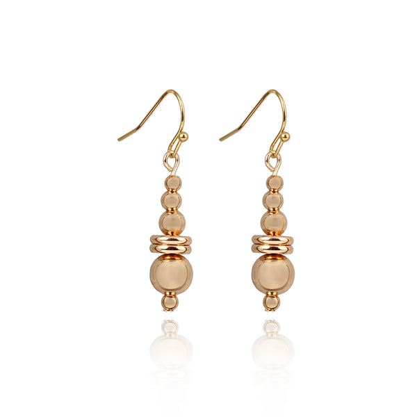 10K Gold Beaded Earrings