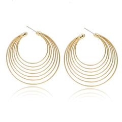 Gold Orbital Hoops | VaVaVoo Jewelry