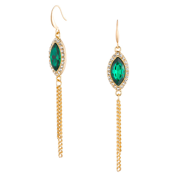 Gatsby Emerald Earrings | VaVaVoo Jewelry