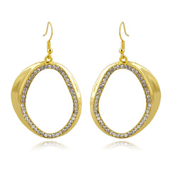 Stargazer Gold and Pavé Hoop Earrings | VaVaVoo Jewelry