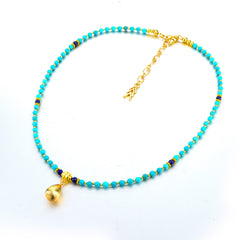 Turkish Token Turquoise Necklace | VaVaVoo Jewelry