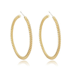 Twisted Gold Hoop Earrings / VaVaVoo Jewelry