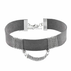 Grey Statement Choker Necklace