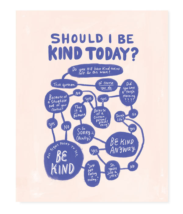 """Should I Be Kind Today?"" Flowchart"