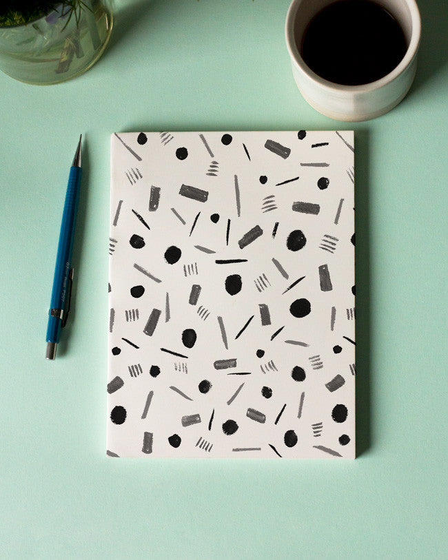 Black Shapes Notebook