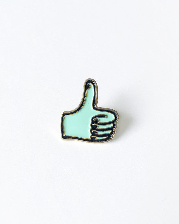 Thumbs Up Pin (Mint)