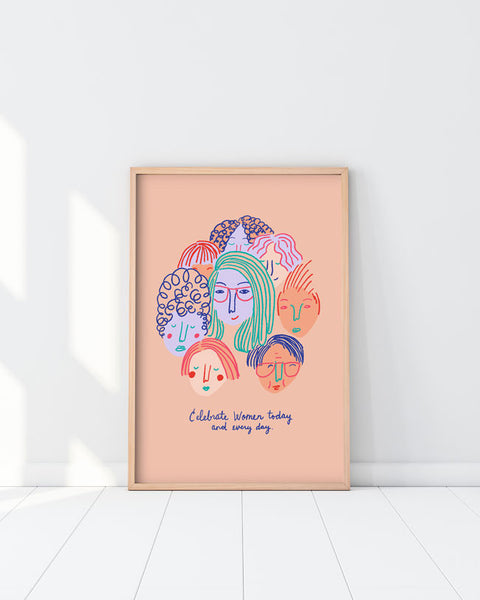 BIG Celebrate Women Poster (Unframed)