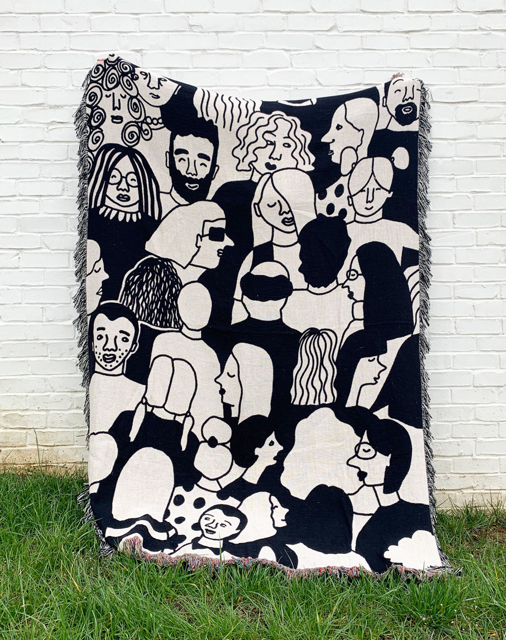 Crowd Woven Blanket