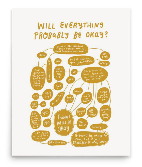 """Will Everything Probably Be Okay?"" Flowchart (Mustard)*"