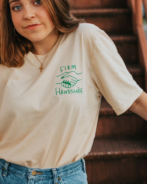 Firm Handshake Embroidered T-Shirt*