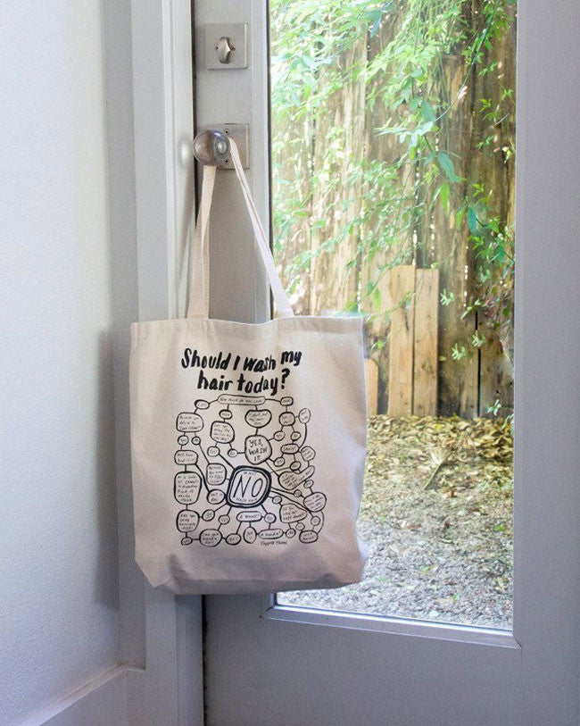 """Should I Wash My Hair Today?"" Tote"