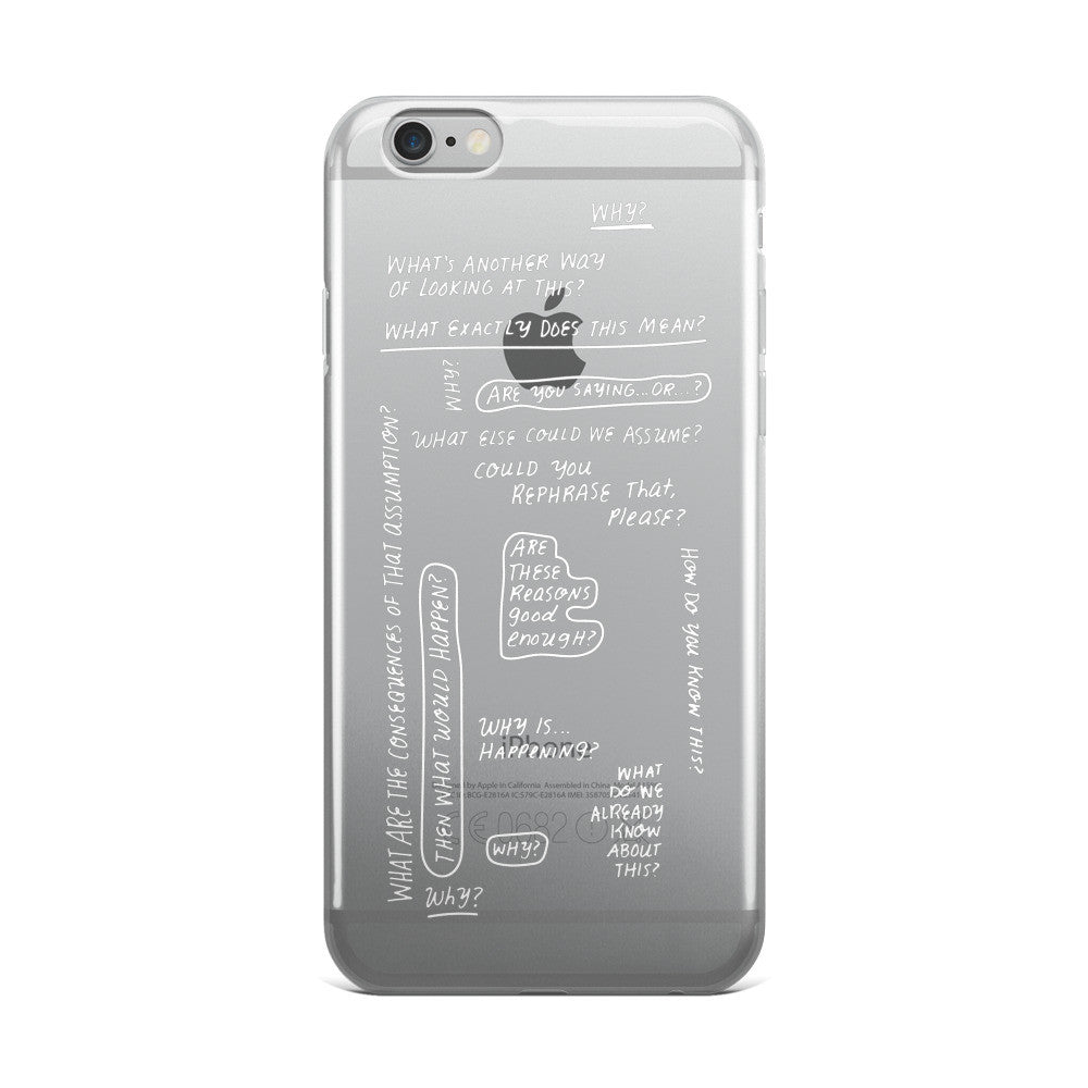 Socratic Questions iPhone 5/5s/Se, 6/6s, 6/6s Plus Case
