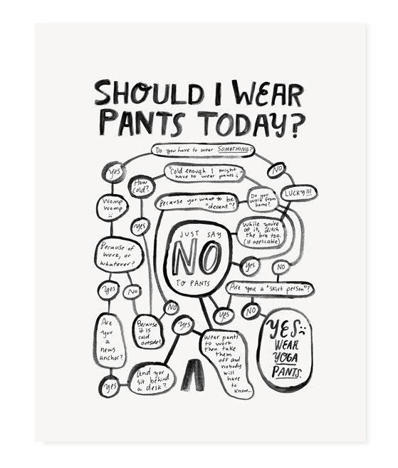 Should I Wear Pants Today? (Teal)