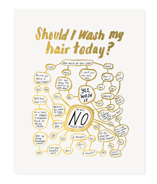 Should I Wash My Hair Today? (Gold)