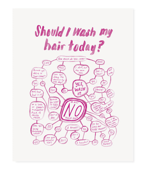 Should I Wash My Hair Today? (Pink)