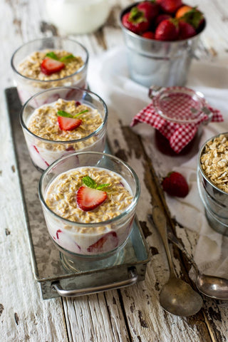 Overnight oats grab and go breakfast
