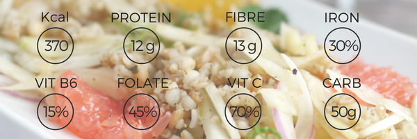 fennel salad yumigrains freshly greek nutrition facts