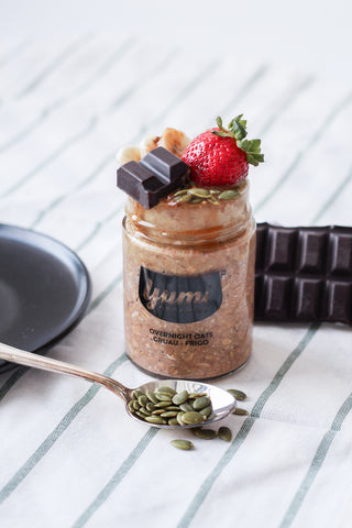 Nutty Chocolate Vegan Overnight Oats