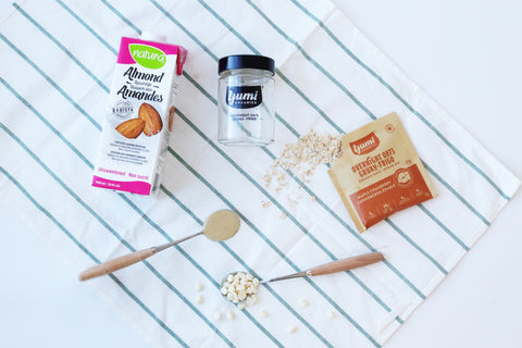 ingredients maple tahini overnight oats