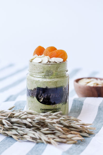 Matcha Chia Vegan Overnight Oats