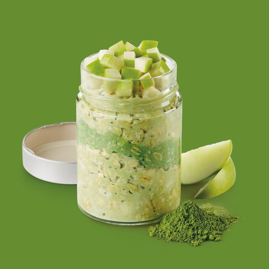 Matcha Green Apple Overnight Oats - YUMi ORGANICS