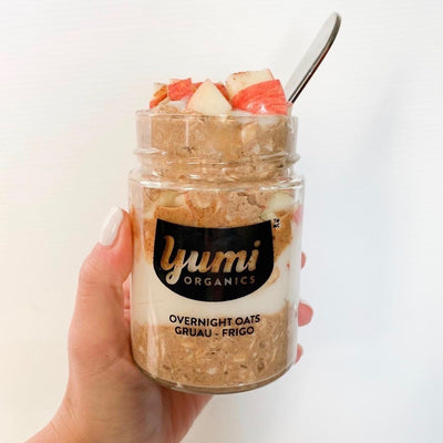 Apple Cinnamon Overnight Oats - YUMi ORGANICS