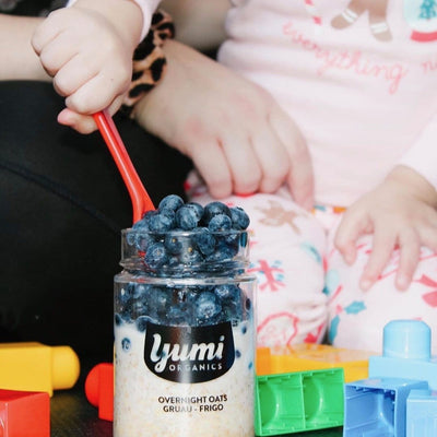 Blueberry Vanilla Overnight Oats - YUMi ORGANICS