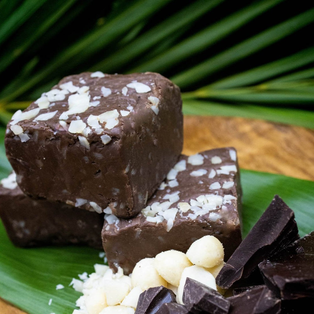 Chocolate Macadamia Nut Fudge
