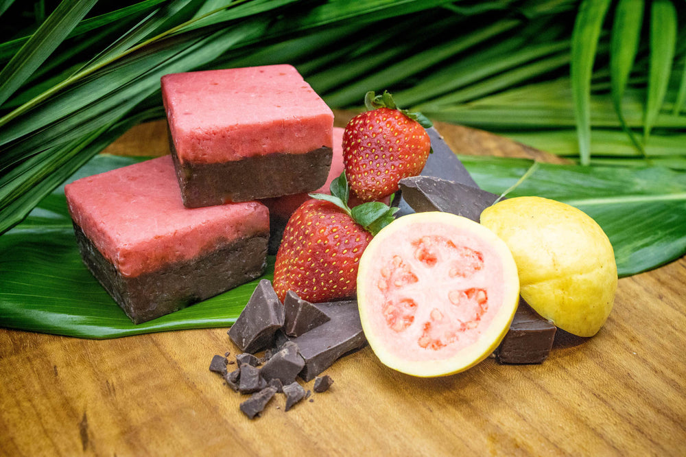 Dark Chocolate Strawberry Guava Fudge