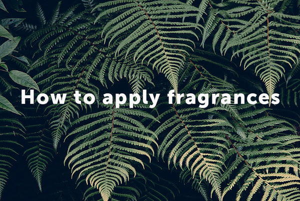 Applying Fragrances