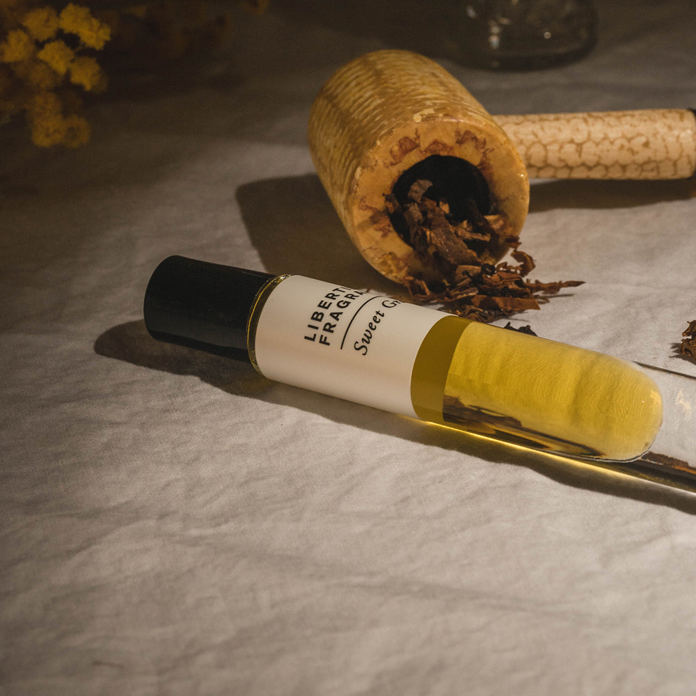 Mimosa perfume oil by tobacco pipe